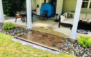 paver patio step